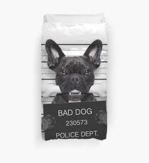 Funny French Bulldog Mugshot T-Shirt Duvet Cover