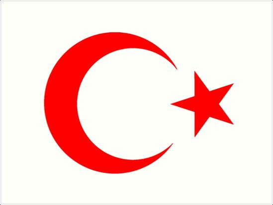 crescent moon star red turkey flag of turkey turkish flag