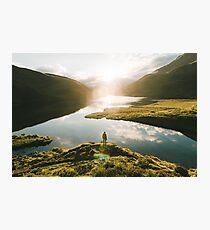 Switzerland Mountain Lake Sunrise - Landscape Photography Photographic Print