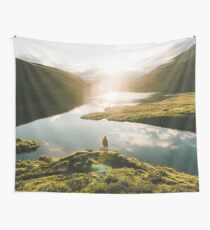 Switzerland Mountain Lake Sunrise - Landscape Photography Wall Tapestry