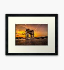 Arc De Triomphe 2 Gerahmtes Wandbild