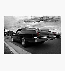 1969 Chevy Chevelle SS b&w(-ish) Photographic Print