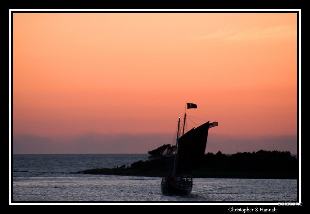 Ship Sailing in Silverlake Harbor by solstone
