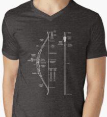a0cb5f2f5 Compound Bow Archery Hunting Anatomy T Shirt - Funny Bow V-Neck T-Shirt