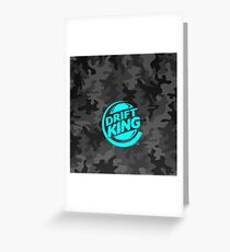 Drift King Carbon Camouflage blue Greeting Card