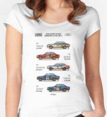 Ford Escort RAC Rally Tribute Women's Fitted Scoop T-Shirt