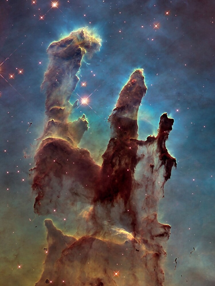 HUBBLE, NASA, Telescope, Pillars of Creation, Stars, Space, Cosmos, Cosmic, Eagle Nebula. by TOMSREDBUBBLE