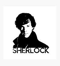 Sherlock Stencil Art Photographic Print