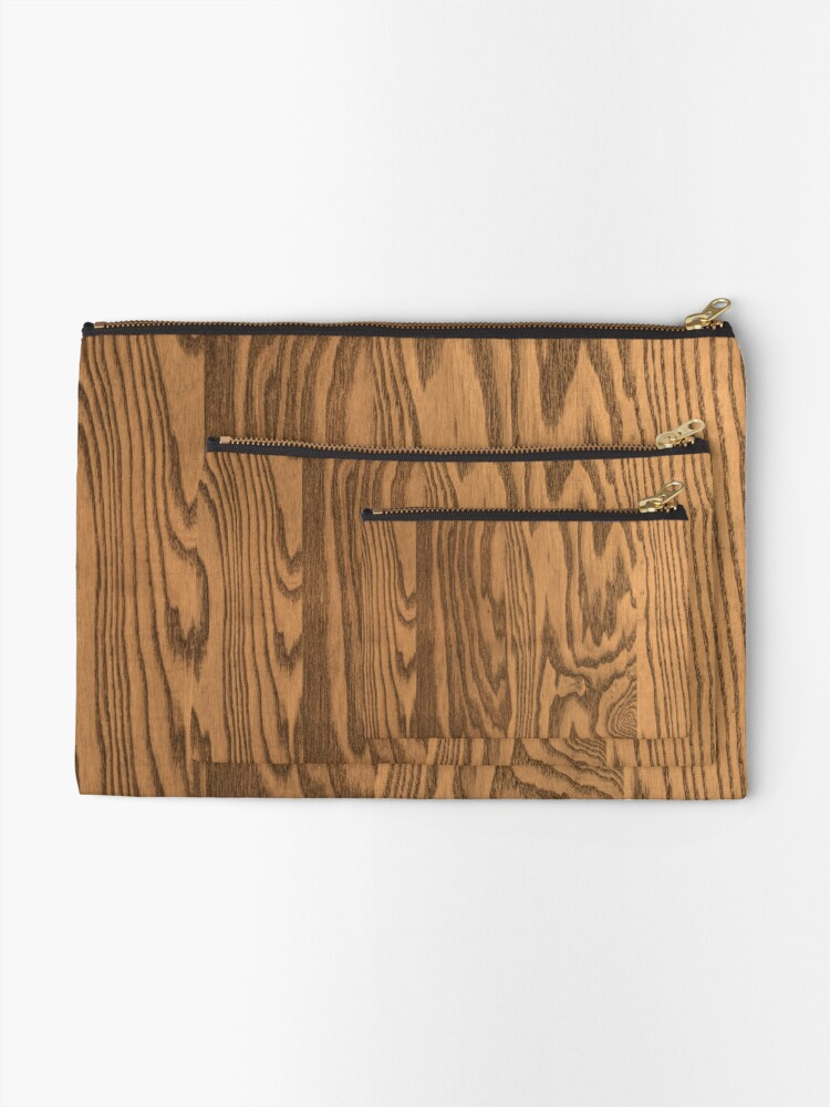 Alternate view of Wood 4 Zipper Pouch