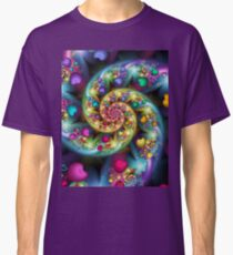 Colorful fractal heart spiral image Classic T-Shirt