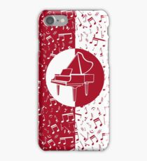 Red and white piano themed iPhone Case/Skin