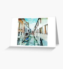 Venice (Italy) in watercolor Greeting Card