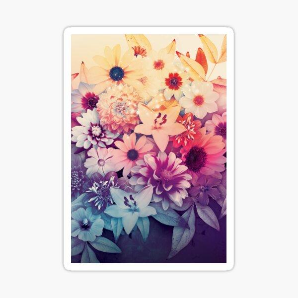 Hipster Flowers Sticker
