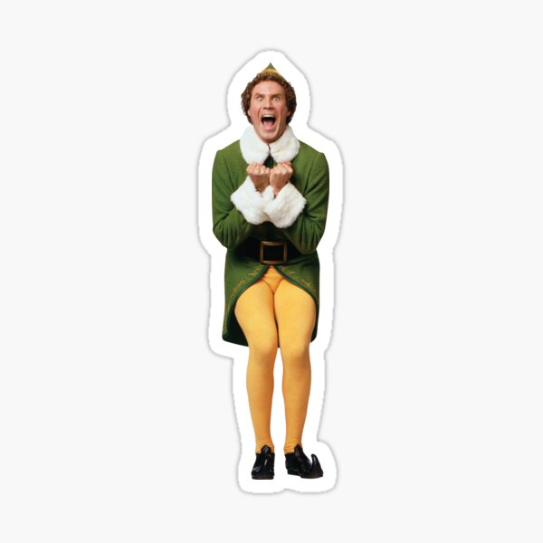 Buddy the Elf - Emocionado Pegatina