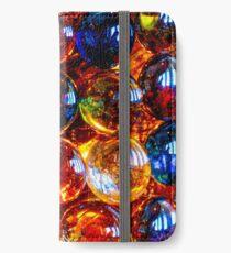Farbe Glaskugeln iPhone Flip-Case/Hülle/Klebefolie