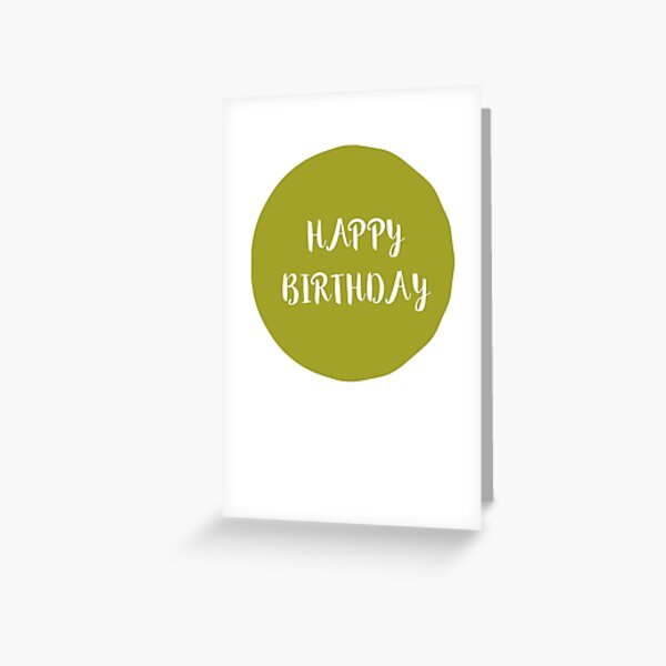 Hand Drawn Circle and Typography Birthday Greeting Card
