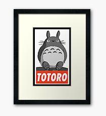 -MANGA- Totoro Framed Print