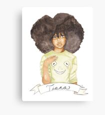 Tia   Black Princesses Canvas Print