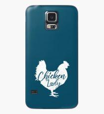Huhn Lady Shirt für Frauen Weiß Hülle & Klebefolie für Samsung Galaxy