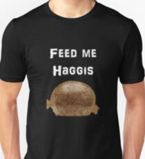 Iskybibblle Products / Feed me Haggis/White T-Shirt