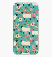Sheep farm sanctuary florals pattern cute gifts for animal lovers iPhone Case