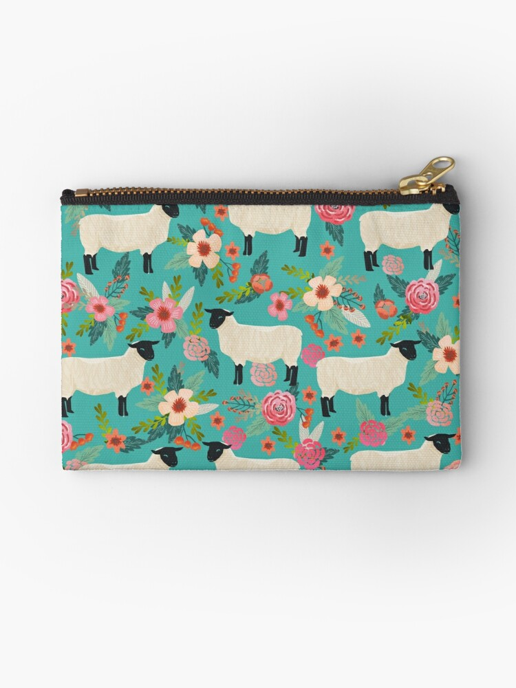 Sheep farm sanctuary florals pattern cute gifts for animal lovers by PetFriendly