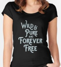 Boho Wild and Pure and Forever Free Women's Fitted Scoop T-Shirt