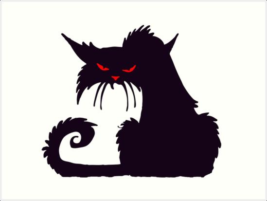 Láminas Artísticas «Gato, Dibujos Animados, Gato