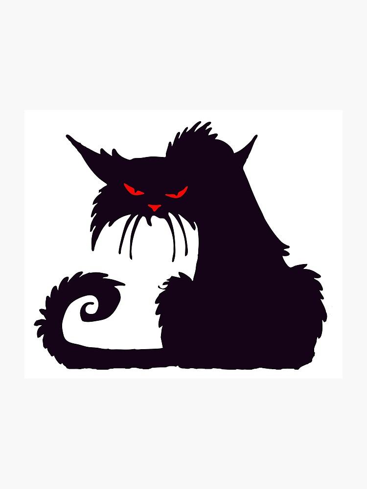 grand noir fille chatte
