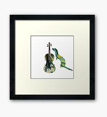 Ferret with viola art Framed Print
