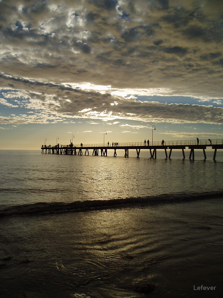 Clouded sun at Glenelg by Lefever
