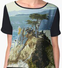 Pebble Beach California Women's Chiffon Top