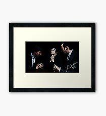 Sherlock, John and Mycroft Framed Print