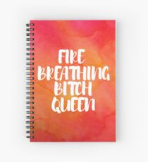 Fire Breathing Queen -Watercolor Spiral Notebook