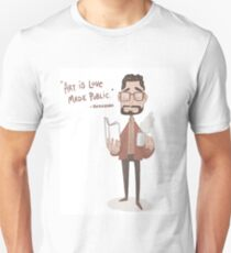 Hernando Sense8 Drawing with quote about love Unisex T-Shirt
