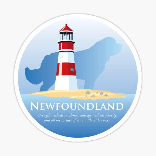 Newfoundland Dog by the Lighthouse Sticker