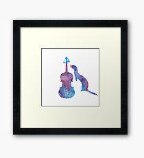 Ferret with viola Framed Print