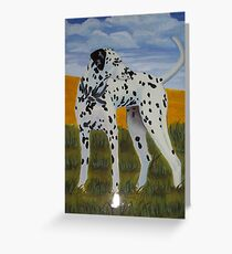 Dalmation dog oil painting Greeting Card