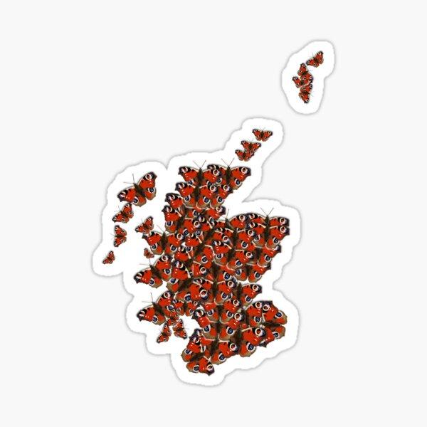 Scotland in Peacocks Sticker