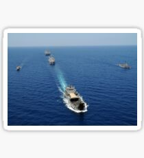 The Republic of the Philippines Navy ships cruise in formationwhile taking part in exercise Balikatan 2010. Sticker