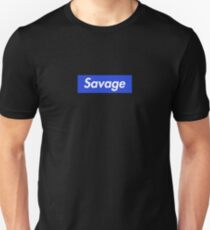 SAVAGE BOX LOGO BLUE/BLACK - 21 T-Shirt