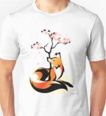 Sakura Kitsune Unisex T-Shirt