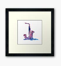 Ferret with saxophone Framed Print