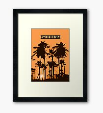 California - Sunset in the USA Framed Print