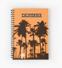 California - Sunset in the USA Spiral Notebook