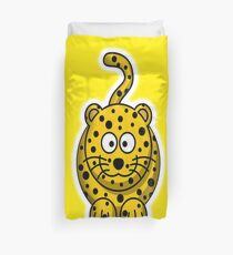 Leopard, Cartoon, Cute, Spotty, Big Cat, Yellow, CAT Duvet Cover