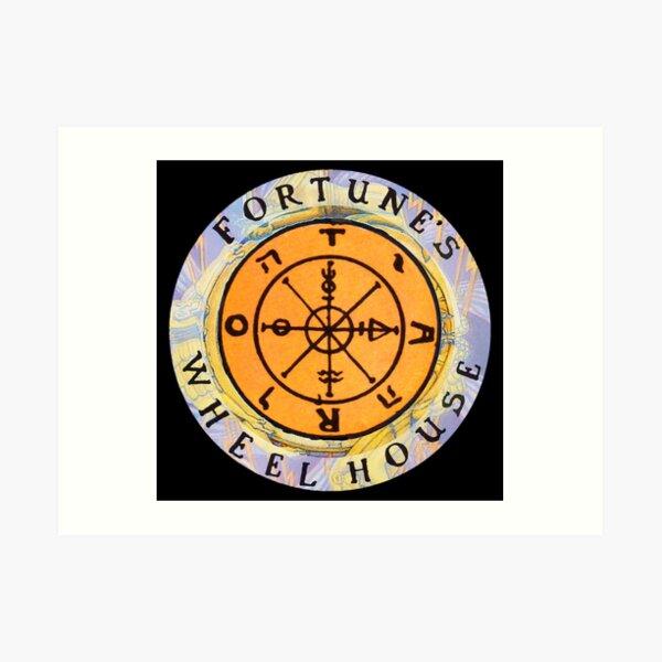Fortune's Wheelhouse logo on black Art Print