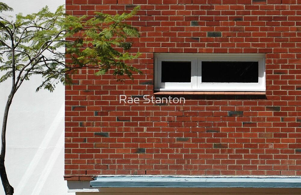 red brick window by Rae Stanton