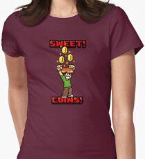 Sweet! Scott Pilgrim! Coins! Womens Fitted T-Shirt