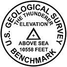 The Thunderer, Wyoming USGS Style Benchmark by topou